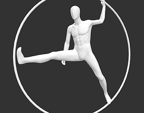 male mannequin with ring circle 3d printing model