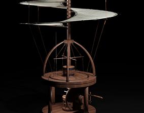 3D model Leonardo Da Vinci - AeroScrew helicopter - 1