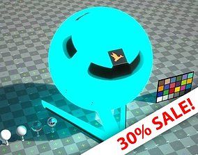3D model LED Light - Glowing Orb - VRay shader
