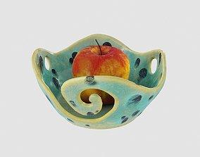 Fruit Pottery Ceramic Wave Vase 3D model PBR