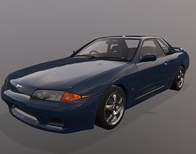 3D asset 1991 Nissan Skyline R32 GTS-t