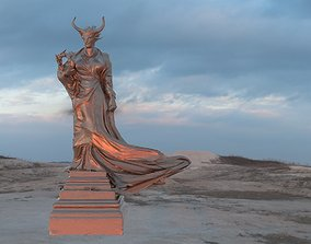3D Female demon Statue