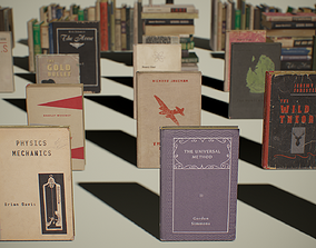 PBR Retro Books 3D asset
