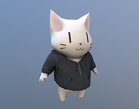 3D asset Cat Kawaii