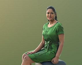 Amaya 10539 - Sitting Elegant Woman 3D model low-poly