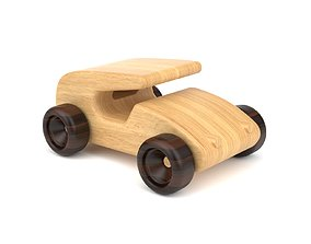 Wooden toy car 19 3D