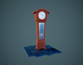 Stylized Pendulum Clock - Tutorial Included 3D model