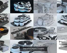 Vinyl record players 3D techdas