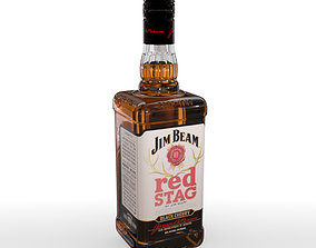 3D Jim Beam Red Stag 70cl Bottle