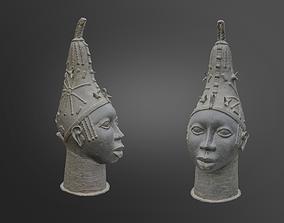 Moroccan Metal Berber Statue Head 3D model low-poly