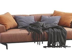 3D model Poliform Leather Sofa Tribeca
