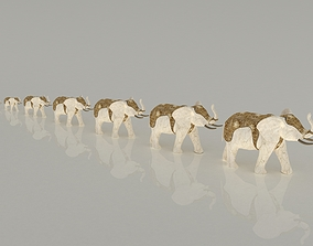 luck elephants 3D model