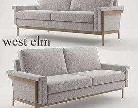 Leon Wood Frame Loveseat 68 by West Elm 3D model