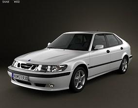 Saab 9-3 Hatchback 5-door 2001 3D