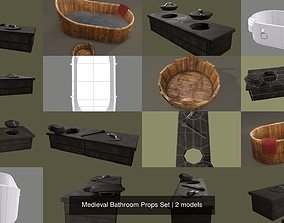 3D model Medieval Bathroom Props Set