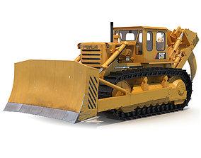 Bulldozer CAT Rigged 3D model