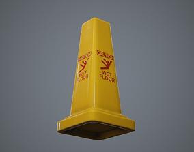 3D model Triangular Wet Floor Sign