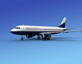 Airbus A320 JAB Airlines 3D