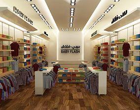 Cloth Store Interior 3D model