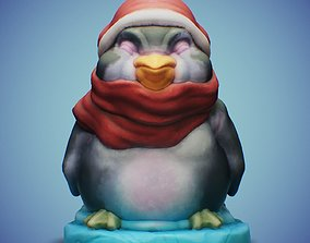 3D printable model Christmas Penguin