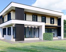 3D asset Modern House - ABD