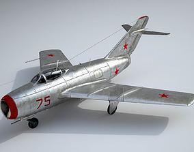 3D model rigged MiG-15