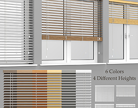 Wooden Blinds And Windows 3D