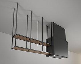 island shelves cooker hood Cappa sospesa Snaidero Opera 3D