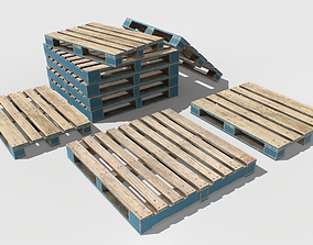 Industrial Wooden Pallet 1 PBR 3D model low-poly