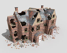 3D asset destroyed house 4