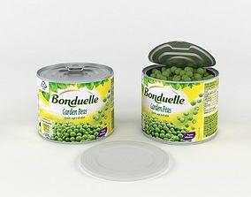 Can Bonduelle Green Peas 3D