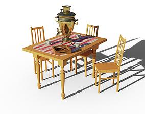 Samovar Scene 3D model