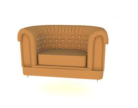 armchair 3D model sofa leather