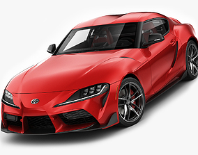 3D Toyota Supra 2020 with interior