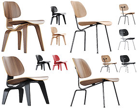 Vitra Plywood Chairs Collection 3D model