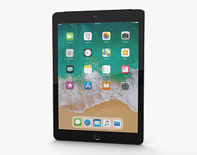 3D Apple iPad 9-7-inch 2018 Cellular Space Gray