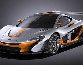 McLaren P1 GTR concept 2016 VRAY 3D