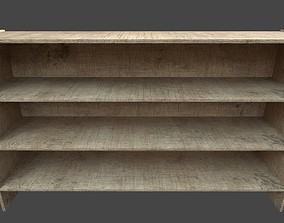 Bookshelf 3D model game-ready PBR