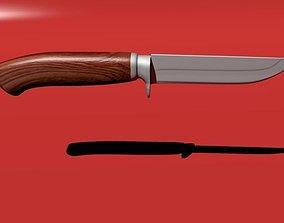 3D model hunting knife