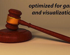 3D asset auction and law Gavel