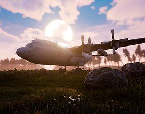 3D model US C-130 aviation