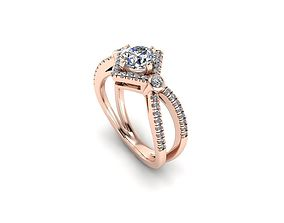 Diamonds Engagement ring Statement Ring 27 3D print model