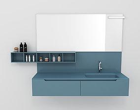 Bathroom furniture set Gold 5 3D model