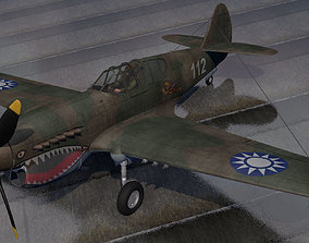 3D Curtiss P-40E Warhawk