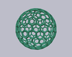 3D free hexagon wireframe sphere