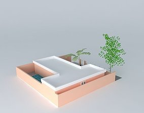 House with slab 3D model