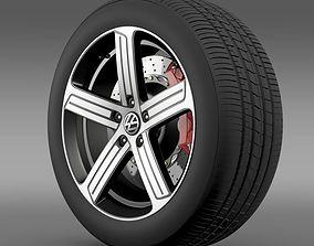 Volkswagen Golf R wheel 3D model