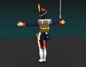 3D asset rigged Grenadier of the guard Napoleon