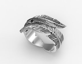 3D print model Ring feather 2