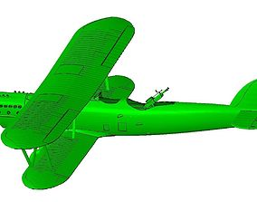 Aero A-101 biplane 3D print model